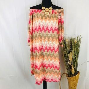 Dresses & Skirts - Plus Size Off The Shoulders Shift Dress